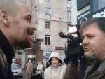 Боец АТО избил пропагандиста Коцабу: опубликовано видео