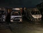 В Харькове сгорело несколько автомобилей на стоянке