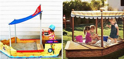 Детская песочница кораблик
