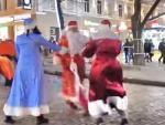 В Одессе произошла кровавая битва дедов Морозов
