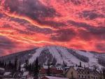 Над Шерегешом наблюдали удивительный закат